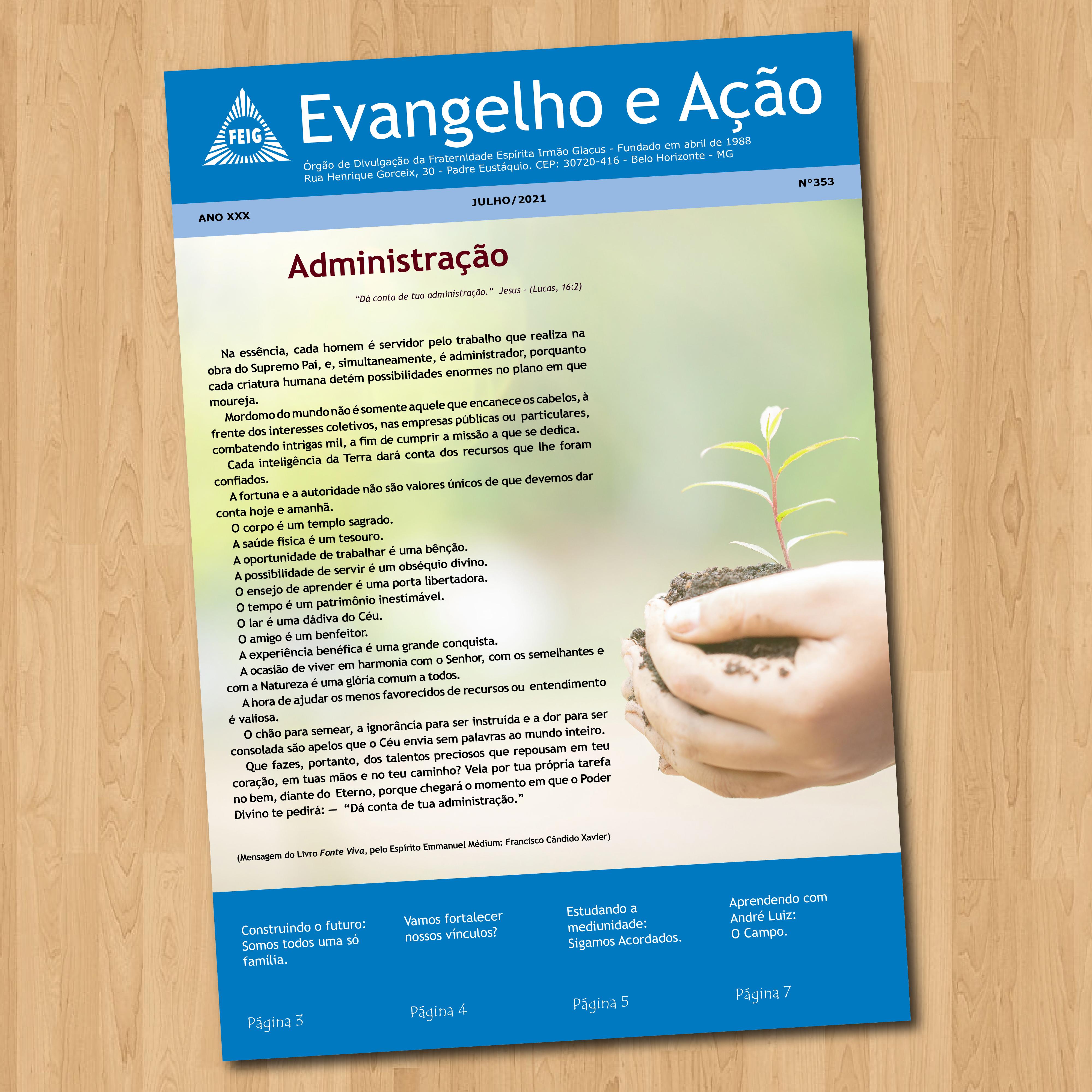 Jornal Evangelho e Ação - Feig - julho/2021